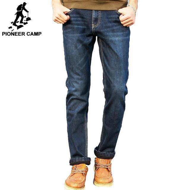 Pioneer Camp зимние мужчин джинсы сгущает руно брюки марка одежды 2017 новая мода повседневная брюки мужские брюки качество 517103 Т
