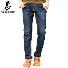 Пионерский лагерь зимние мужские джинсы утепленные флисовые брюки брендовая одежда 2017 новые модные повседневные штаны мужские качественные штаны 517103 т