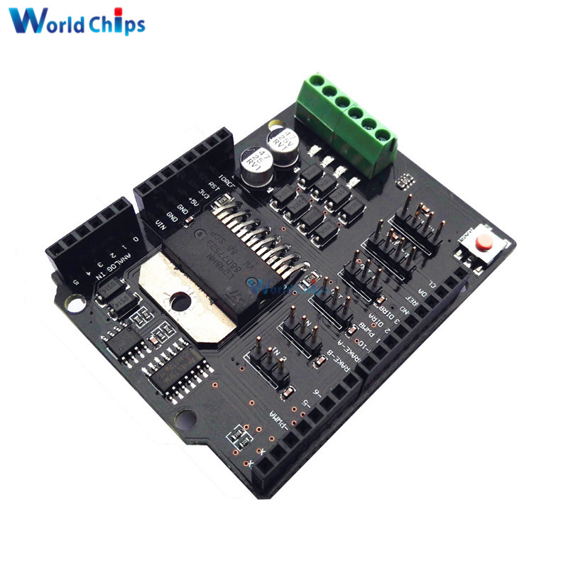 Replace L298P Dual Channel DC Motor Driver Shield Expansion Board L298NH Module Driving Module For Arduino UNO R3 MEGA2560 5-12V bead