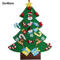 Ourwarm 2018 DIY Felt Christmas Tree Pendant Drop Ornaments New Year Gift For Children Kids Door