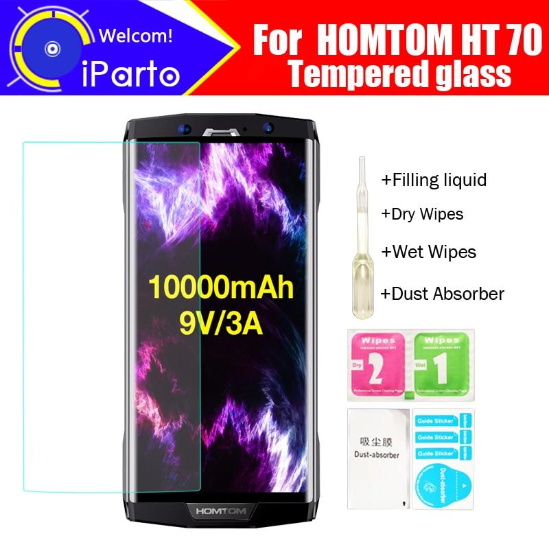 HOMTOM HT70 Tempered Glass 100% Original Premium 9H 2.5D Screen Protector Film For HOMTOM HT70 Phone (Not Full Cover)(China)