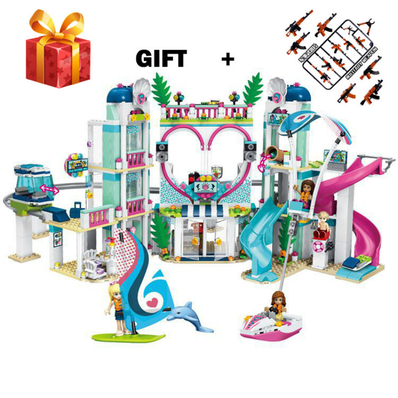 Friends The Heartlake City Resort Model Compatible legogery 41347 Building Block Brick Toys for Children