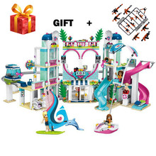 Friends The Heartlake City Resort Model Compatible legogery Friends 41347 Building Block Brick Toys for Children building blocks girls series the heartlake grand hotel model finger brick compatible 41101 educational toys for kids