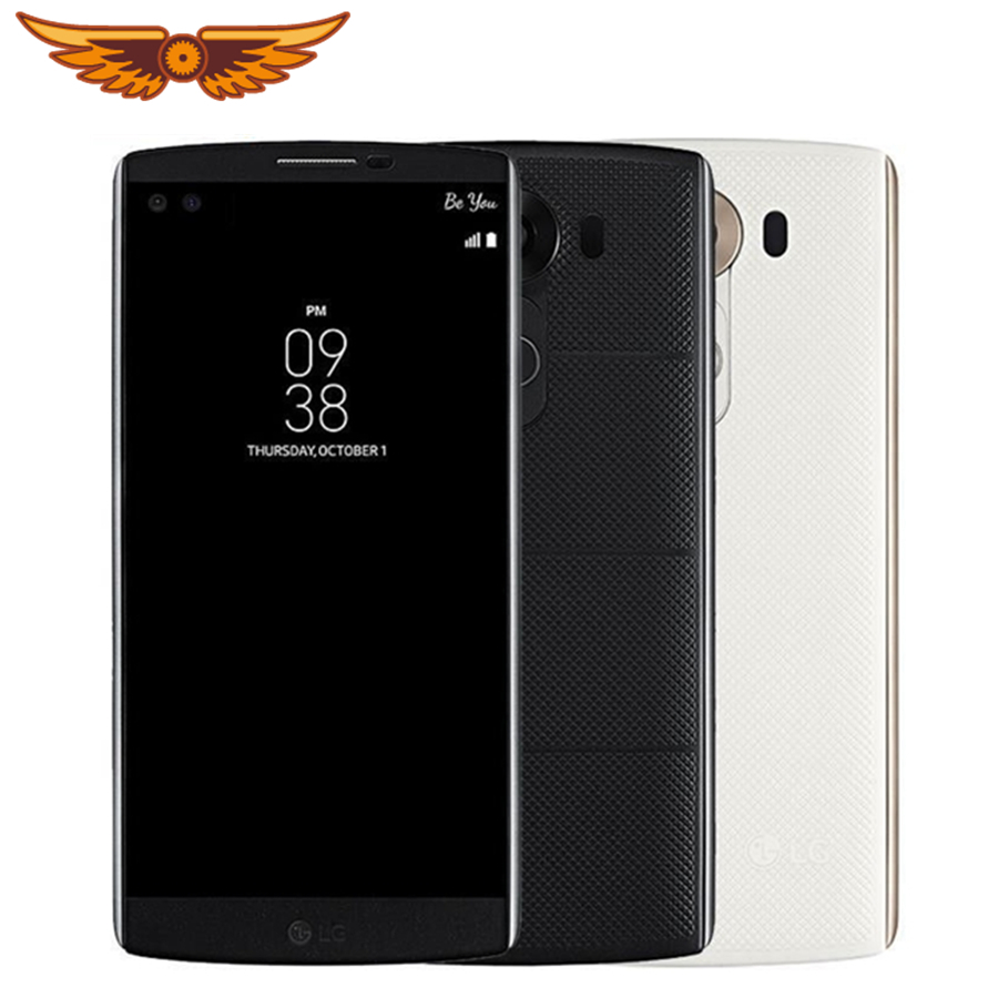LG V10 4GB Fingerprint Recognition 5mp Refurbished Unlocked Smartphone 64GB-ROM Original