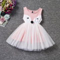 2016 baby Girl clothes girls dress Christmas Pink Fox sleeveless casual dress kids dress vestido de princesa infantil