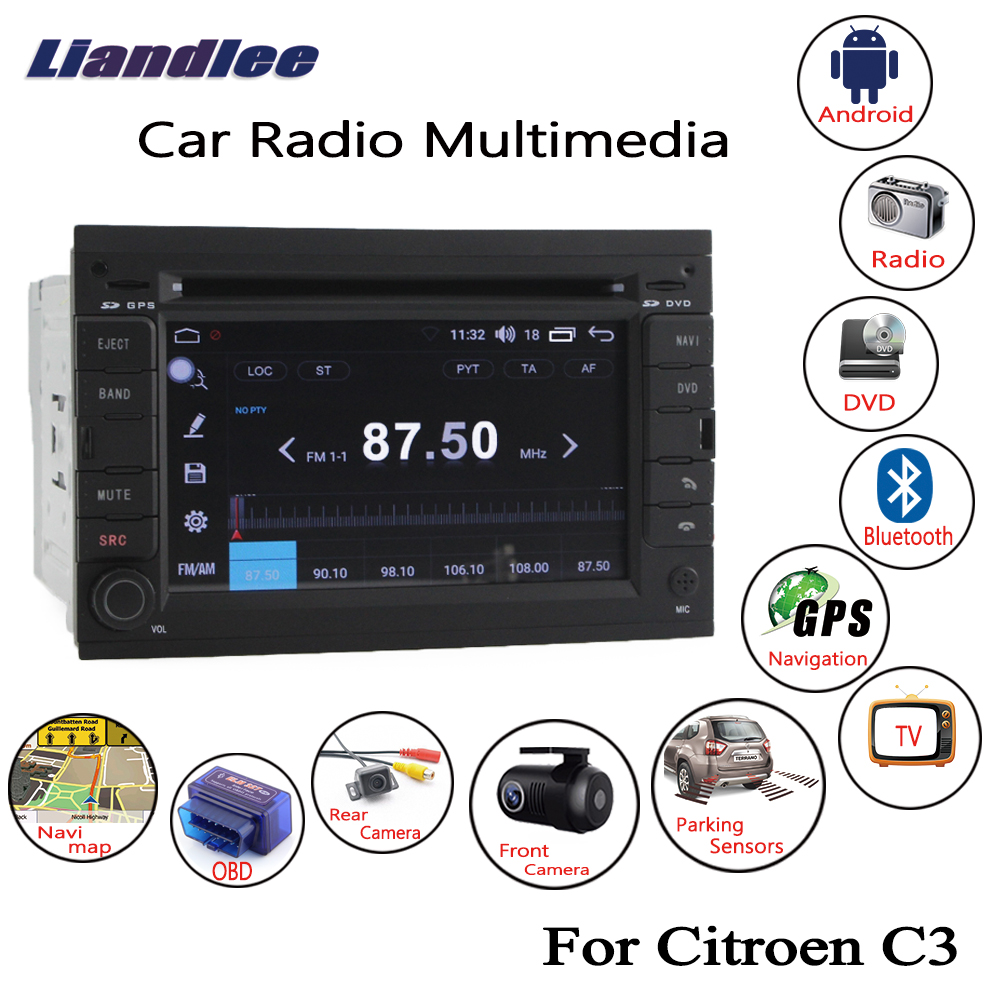 Liandlee Android Car For Citroen C3 2003~2009 Radio CD DVD Player GPS Navi Navigation Maps Camera OBD TV Multimedia HD Screen