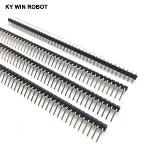 Image 4 - 200pcs 40 Pin 1x40 Single Row Male 2.54mm Breakable Pin Header Right Angle Connector Strip bending