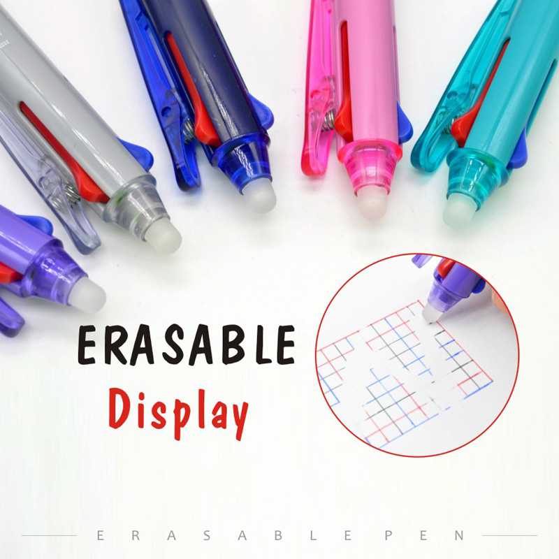 3 In 1 Erasable Gel Pen 0.5mm Student Magic Pen Red Black Blue 3 Colors Pen for School Office Supply highpro hi r 2 in 1 hippocampus lens pen air blower black red
