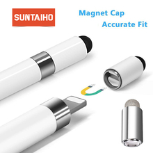 Suntaiho Stylus Pencil Cap Magnetic Tip for Apple Pencil Pen Case With Conductive for iPad