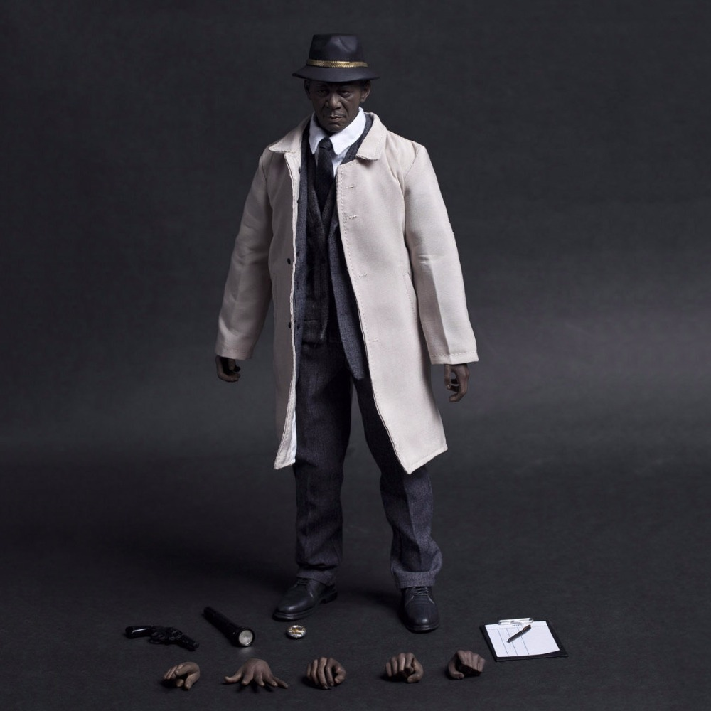 1/6 Crimes Senior Detective Morgan Freeman Action Figure Full Set With Accessories Collection 1 6th collectible figure doll se7en detective morgan freeman