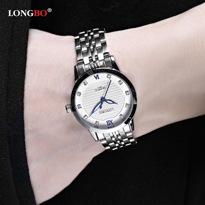 Casual de Pulso de Quartzo Relógios de Luxo da Marca de Quartzo-relógio Longbo Homens Marca Mulheres Breve Único Relógio Feminino Montre Femme 8803