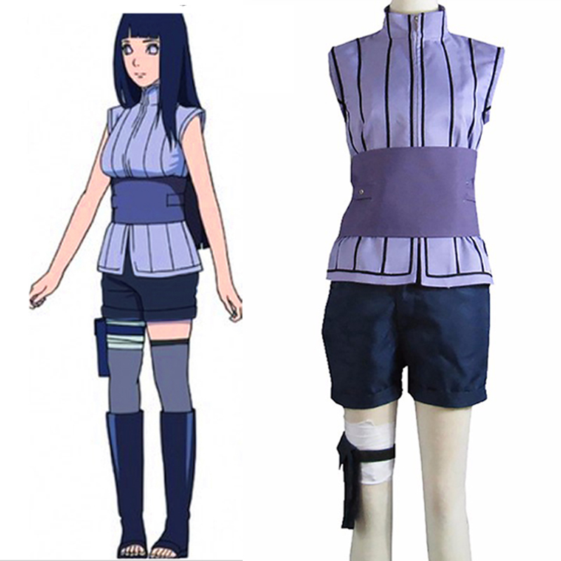 2018 Film Son Anime NARUTO hinata hyuga cosplay kostyum Sexy Hinata Halloween geyimləri, Hinata Hyuga Cosplay, Pulsuz Göndərmə
