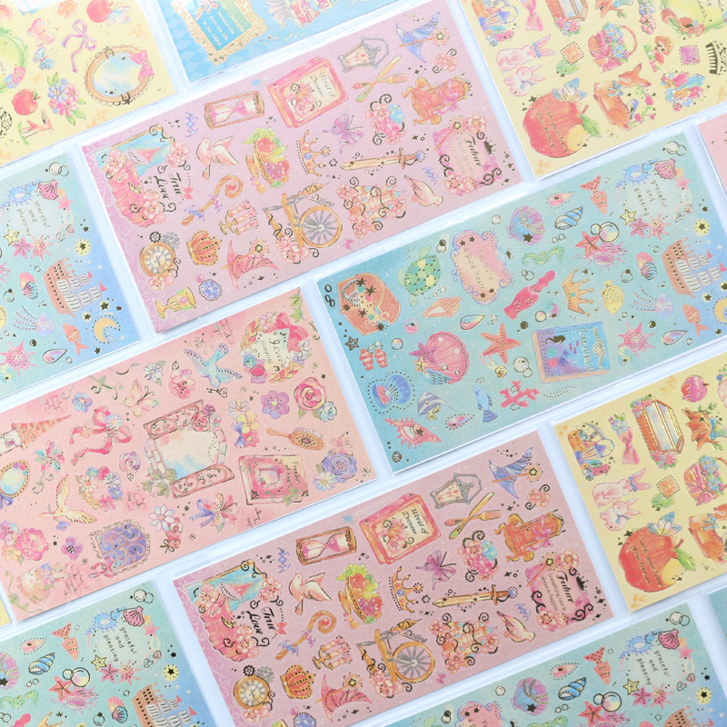 Domikee Cute Kawaii Cartoon School Gold Foil Decorative DIY Stickers For Kids Diary Planner Journal Scrapbooking Stationery