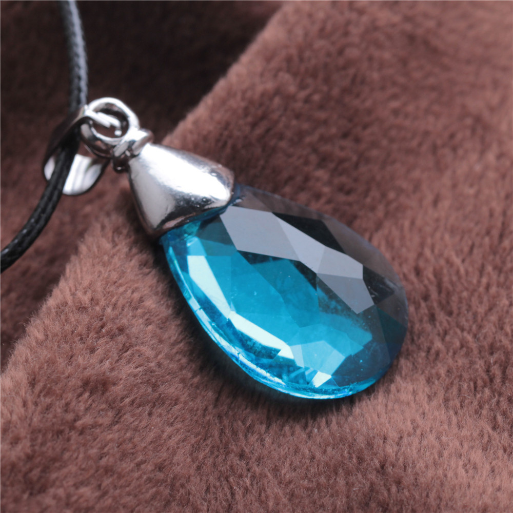 pendant pin sapphire blue sterling birthstone necklace september swarovski silver light crystal