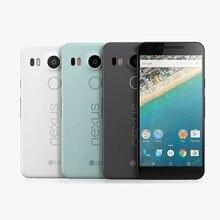 Oryginalny lg nexus 5X H791 H790 4g lte android 6.0 telefon komórkowy 5.2 ''calowy 12MP 16/32GB ROM 2GB RAM odcisk palca LTE mobilny smartfon