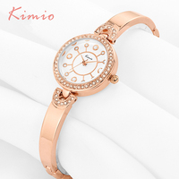 2016 Fashion Womens Watches Top Brand Pearl Scale Quartz Gold Bracelet Watch Woman Wrist Watches For