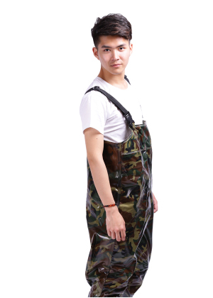 Angeln Regen Hosen Mann Winter Breathable Chest Waders 0,65 mm - Haushaltswaren - Foto 3