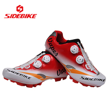 SIDEBIKE Professional Bicycle Cycling Shoes MTB Mountains Bike Lightweight Fast Tuning Knob Lacing Racing Self-locking