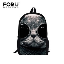 Forudesigns модные дети школьные сумки для девочек мальчиков 3d животных мопсы животное bookbags милые щенки французского бульдога печати дети сумка