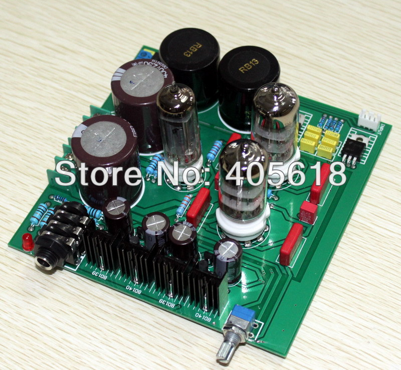 Tube 6N3 6Z4 basic on lehmann circuit Headphone Amplifier board Assembled