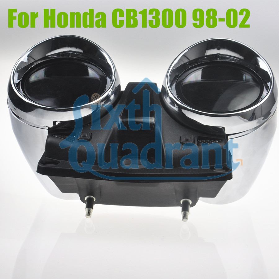 Motorcycle Replacement Update Custom  Speedometer&Tachometer Cluster Case Cover Kit for Honda CB1300 1998-2002 100% brand new motorcycle speedometer tachometer cluster case cover set for honda cruiser x4 1300 97 98 99 00 01 02 03