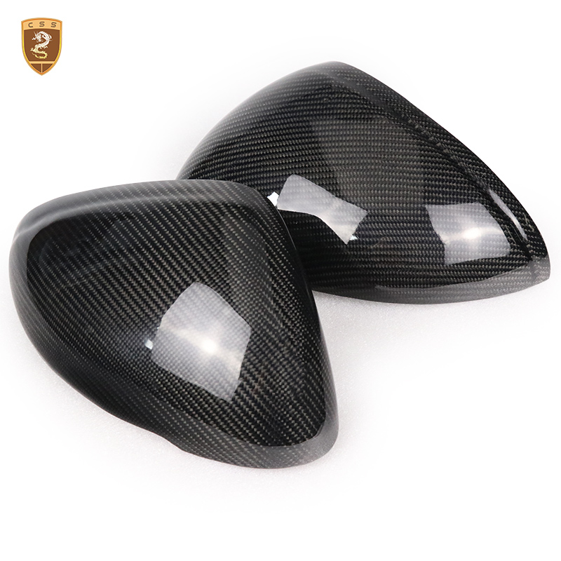 For Porsche Macan 2014 2015 Carbon Fiber Side Wing Mirror Cover Trim Add on Style Mirror