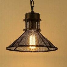 Paraguas de estilo americano rejilla lámpara colgante E27 Iluminación Loft moderno de iluminación de la iluminación Para La Cocina/Gabinete dormitorio cafe bar
