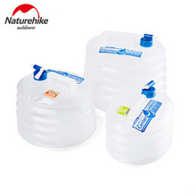 Naturehike Outdoor Collapsible Water Container Folding Bucket with Tap Portable Water Bag 5L 10L 15L