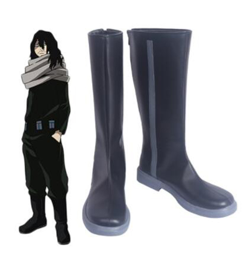 Boku no Hero Academia My Hero Academia Shota Aizawa Eraser Head Cosplay Boots Shoes Custom Made for Adult Men Shoes Accessories
