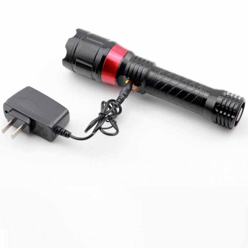 Инфракрасная светодиодная вспышка света Q5 280 люмен Водонепроницаемый 3 режима масштабируемый тактический фонарь с помощью 18650 или 3 * aaa красный лазерный факел свет