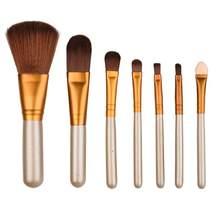 Escovas 7 pçs beleza profissional pincéis de maquiagem definido ferramentas fundação pó escova c30323 #30 1106
