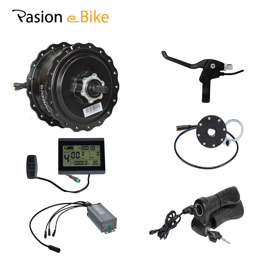 PASION E BIKE 48V 500W 750W Waterproof Fat Bike eBike Conversion Kit BAFANG 190MM Hub Motor 25A Connector LCD Display pasion e bike 48v 500w electric fat bikes bicycle gear hub motor conversion kit bafang 190mm 26 rear wheel 80mm rims