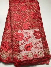 African  Embroidered Nigerian French Tulle Lace
