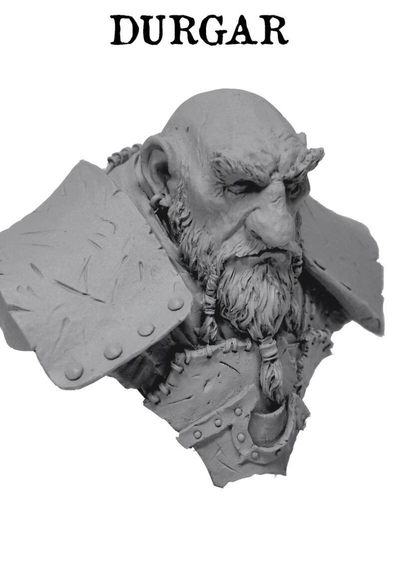 1/10  Ancient Fantasy Man Blacksmith Bust   Resin Figure Model Kits Miniature Gk Unassembly Unpainted