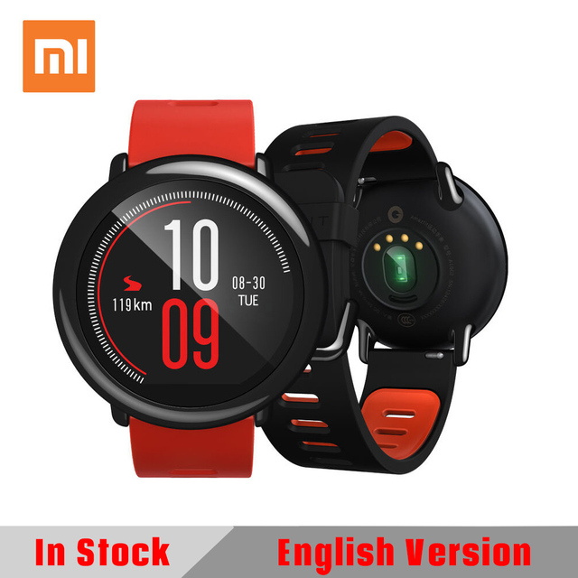 Original Xiaomi HUAMI AMAZFIT English Version Pace Sport Smart Watch Smartwatch Bluetooth WiFi 1.2GHz 512MB/4GB GPS Heart Rate