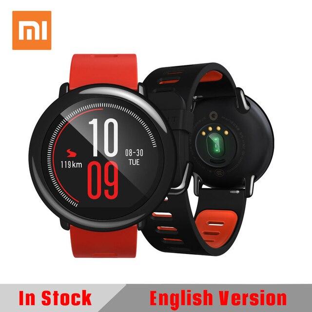 Original Xiaomi HUAMI AMAZFIT Inglés Versión Ritmo Deporte Inteligente Smartwatch Reloj Bluetooth WiFi 1.2 GHz 512 MB/4 GB GPS Del Ritmo Cardíaco