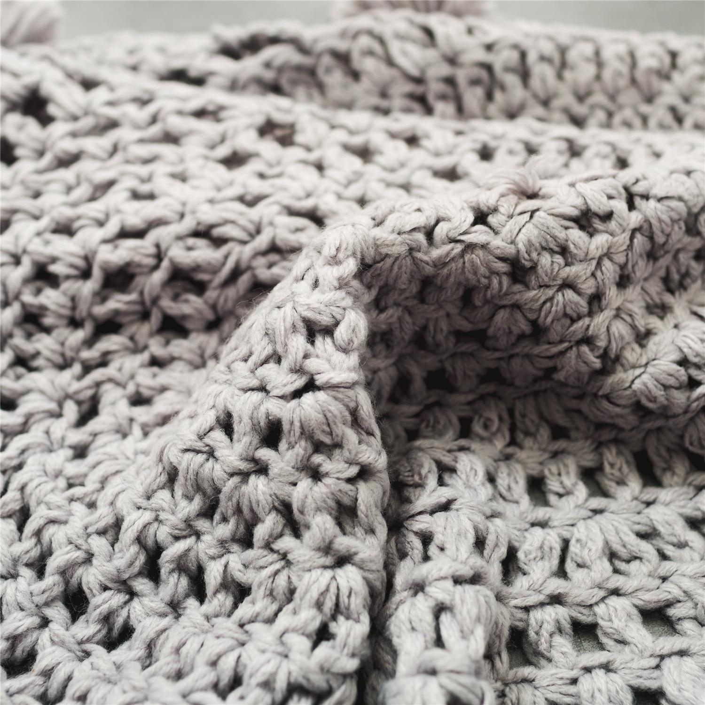High Quality Home Decoration Accessories 80cm Diameter Gray Crochet ...