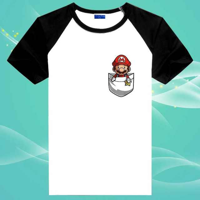 Put Super Mario Inside Your New Pocket T Shirt Design