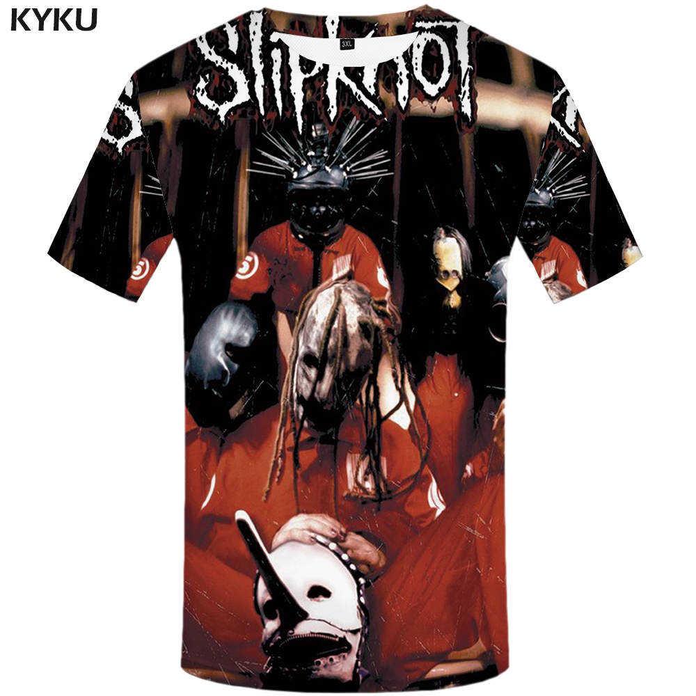KYKU Merk Slipknot T-shirt Gothic Tshirt Punk Tops Rocking Kleding Shirts Tees Mannen Grappige 2017 hiphop Tops Rock
