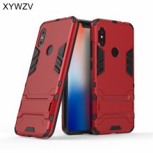 Xiaomi Redmi Note 6 Pro Case Slim Robot Armor Rubber Hard Back Cover Fundas