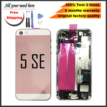battery cover for iphone 5se Back Metal Chassis Middle Frame Battery Cover Door assembly Iphone 5 se with parts+tool
