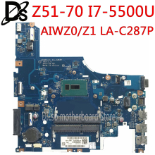 KEFU LA-C287P motherboard for Lenovo Z51-70 G51-70 G51-70M Laptop Motherboard I7-5500U AIWZ0/Z1 LA-C287P 5B20J23574 Test OK 2019 laisumk new spring summer comfortable casual shoes mens canvas shoes for men lace up brand fashion flat loafers shoes