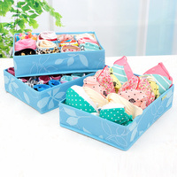 3Pcs/set Underwear Storage Box Bra Underpants Sock Clothing Finishing Boxes Wardrobe Drawer Closet Organizers Home Supplies
