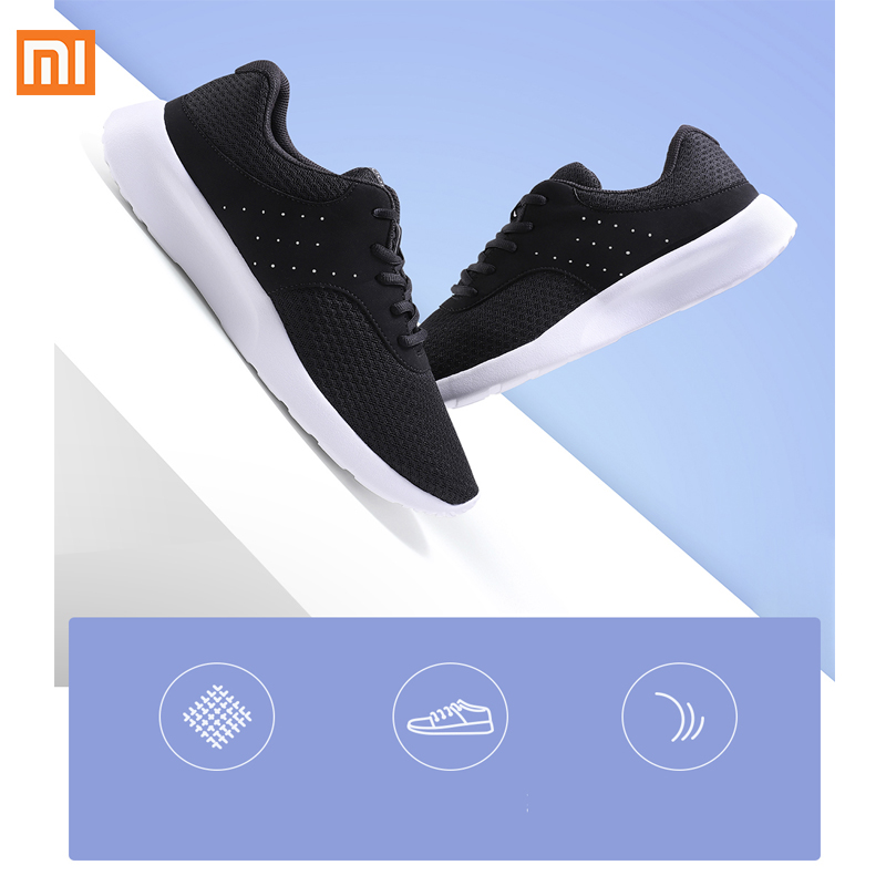 Xiaomi Mijia youpin Sports noir chaussures 90 points léger breat respirant rafraîchissant maille confortable et Stable pour homme