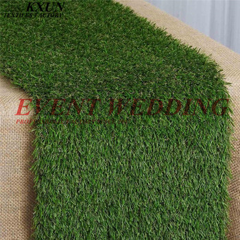 New Design Simulation Grassland Table Runner Table Cloth Runners For Wedding Event Decoration