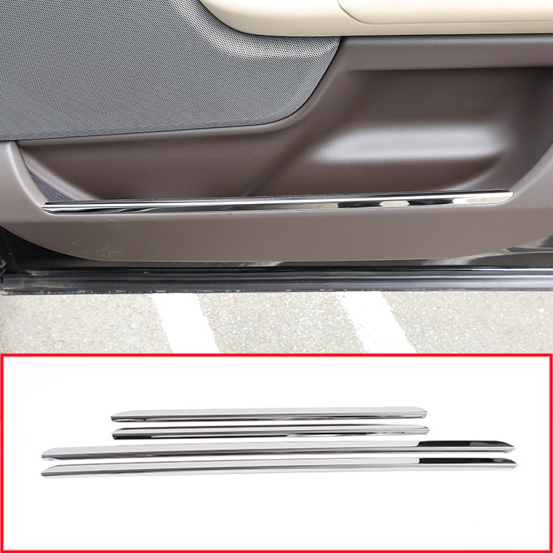 Stainless Steel Car Interior Door Decoration Trim Strips Sticker For For Land Rover Range Rover Vogue 2018 Car Accessories 4pcs коврики в салон land rover range rover evoque 2011