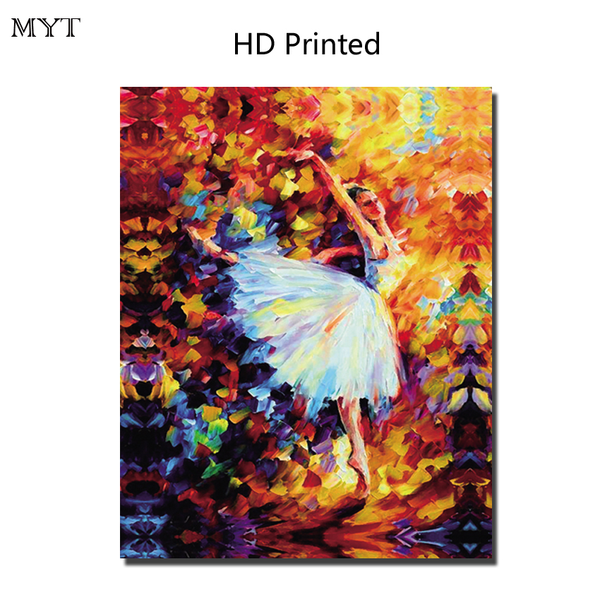 HOT sale HD painting printed on canvas art wall picture Ballet Girl for sitting room home decor No Framed or Diy Framed