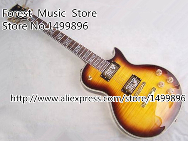 Cheap New Brand LP Electric Chinese Supreme Guitar Vintage Sunburst Guitar Body China OEM Left Handed Custom Available