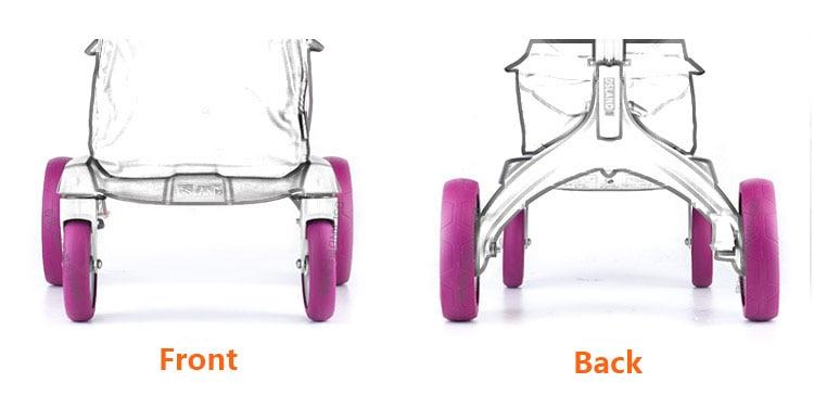 ФОТО DSLAND stroller wheel protect cover rubber cover for dsland baby stroller wheels 4 colors