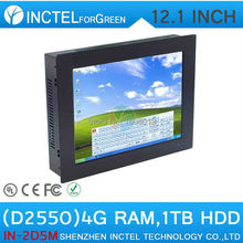 12 inch PC All in one PC All in one computer Five wire Gtouch using high-temperature ultra thin panel with 4G RAM 1TB HDD